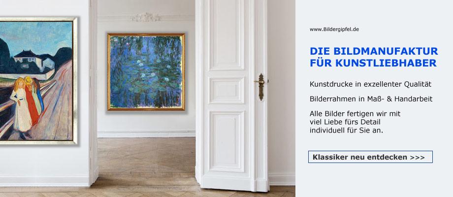 Claude Monet. Edvard Munch. Kandindsky. Piet Mondrian. Unsere Klassiker bei Bildergipfel.