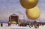 Ballonfahrt auf dem Gelände des 'Berliner Vereins für Luftfahrt'