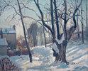 Louveciennes, snow landscape
