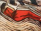 Schlafende in Rot (Liegender weiblicher Akt, schlafend)