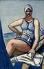 Quappi in Blau im Boot