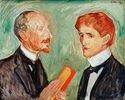 Albert Kollmann, Kunsthändler (Förderer Edvard Munchs), und der dänische Schriftsteller Sten Drewsen, Öl auf Leinwand, 59 × 73,5 cm