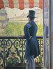 Homme au balcon, Boulevard Haussmann