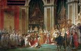 Die Krönung Napoleons (am 2.12.1804 in der Kathedrale Notre-Dame in Gegenwart des Papstes Pius VII.)