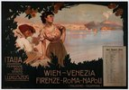 Eisenbahn, Wien – Venezia, Firenze – Roma – Napoli / Plakat