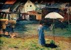 Kallmünz, Gabriele Münter beim Malen I