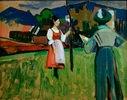 Murnau, Gabriele Münter beim Malen