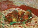 Korb mit Pfirsichen