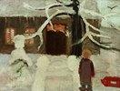Junge im Schnee