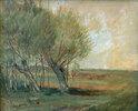 Landschaft mit Weiden