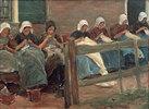 Nähende Mädchen in Huyzen