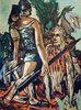 Krieger und Vogelfrau