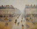 Avenue de l'Opéra. Effet de neige. Matin