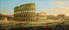Ansicht des Kolosseums in Rom