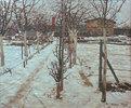 Gärtnerei im Schnee
