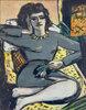 Ruhende Frau mit Nelken, Bildnis Quappi
