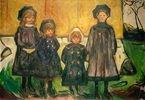 Vier Mädchen in Asgardstrand, die vier Schwestern Bugge