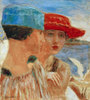 Junge Mädchen mit Möwe