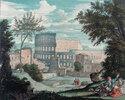 Das Kolosseum mit romantischen Figuren
