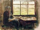 Holländische Frau am Fenster