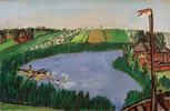 Holländische Landschaft mit Badenden