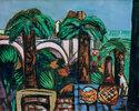 Landschaft mit drei Palmen. Beaulieu