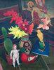 Stilleben mit nackter Puppe, Kaktus und Pietàbild