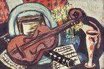 Stilleben mit Geige und Flöte
