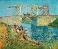Die Brücke von Langlois in Arles mit Wäscherinnen, Arles