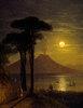 Mondnacht im Golf von Neapel, der Vesuv