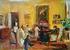 Der Künstler und seine Familie in seinem Haus am Wannsee