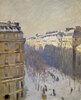 Boulevard Haussmann, effet de neige