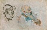 Selbstbildnis des Künstlers (rechts) mit Paul Gauguin