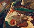 Abstraktes Bild,1943., Öl auf Leinwand, 63 × 75,5 cm.Privatbesitz