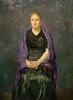 Bildnis Minna Beckmann-Tubemit violettem Schal