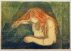VampyrMunch, Edvard 1863?1944, Vampyr, 1894, Lithographie und Holzschnitt in vier Farben, 38 × 55 cm