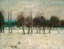 Obstbäume im Schnee