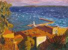 Kleiner Hafen am Mittelmeer