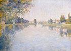 Ansicht der Seine und des Ufers von Argenteuil gegen die Brücke von Bezons