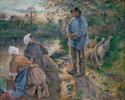 Shepherd and washerwomen