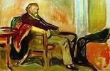 Selbstportrait nach InfluenzaMunch, Edvard, Selbstportrait nach Influenza, 1919, Öl auf Leinwand, 60 × 90 cm