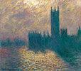 Das Londoner Parlament, stürmischer Himmel