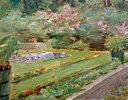 Die Blumenterrasse im Wannseegarten nach Nordwesten