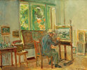 Der Künstler in seinem Atelier in Wannsee
