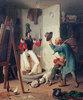 Der Bauer im Maleratelier