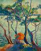 Jeanne mit Sonnenschirm, Cavalière