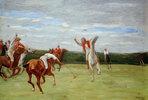 Polospieler in Jenischs Park