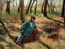 Le père Magloire allongé dans un bois