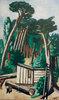 Waldlandschaft mit Holzfällern
