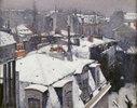 Vue de toits (Effet de neige), dit Toits sous la neige